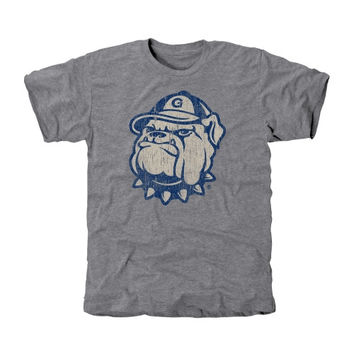 Georgetown Hoyas Distressed Secondary Tri-Blend T-Shirt - Ash