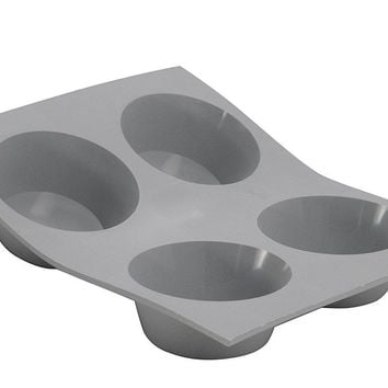 de Buyer Silicone Muffin Mold, 4 Portion