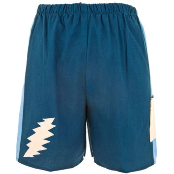 Grateful Dead - Lightning Bolt Blue Juvy Shorts