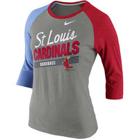 St. Louis Cardinals Women's Cooperstown Tri-Blend 3/4 Sleeve Raglan T-Shirt by Nike - MLB.com Shop
