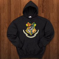Draco Harry Potter Hogwarts logo Hoodie for size s-3xl, for color black, white, gray, and red