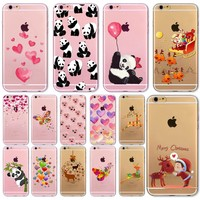 Cute Animals, Pandas, Hearts phone case For iPhone