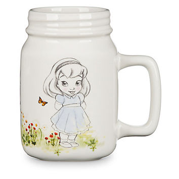 Disney Animators' Collection Mason Jar Ceramic Mug Belle Jasmine Cinderella New