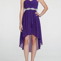 Sweetheart Twist Knot Bodice with High Low Hemline