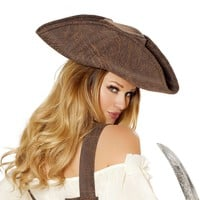 Beautiful Pirate Maiden Hat - As Shown