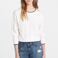 Women's Theory 'Delpy' Silk Sweatshirt,