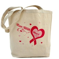 Run with heart Tote Bag