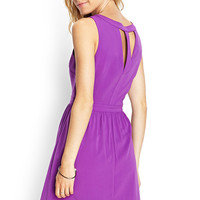 Cutout Back A-Line Dress