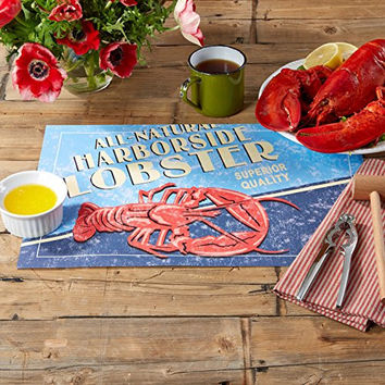 Seafood Shack Lobster Clambake Themed Disposable Paper Placemats - Pad of 48