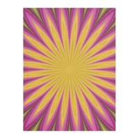 Fractal Flower Design Fleece Blanket