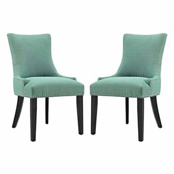 Marquis Set of 2 Fabric Dining Side Chair, Laguna