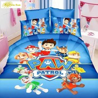 2017 HOT SALE Fashion Bedding set 3pcs Cartoon paw patrol  Noble High Quality   Bed linen   Bedclothes Duvet cover set