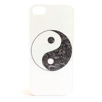 Black and White Detailed Yin Yang Phone Case