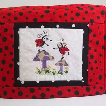 Two Slice Toaster Cover with Lady Bugs