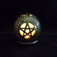 Pentacle Tea Light Holder - Cone Incense holder, Wiccan, Wicca, Pagan, witchcraft, witchcraft supply, altar decor, pentagram