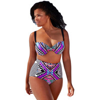 2Pcs Purplish Plus Size Swimsuit Sale LAVELIQ
