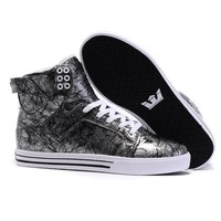 Supra Skytop Woman Men Fashion High-Top Leopard Flats Shoes