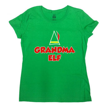 Funny Elf Shirt Grandma Elf T-Shirt Christmas T-Shirt Grandma Shirt Merry Christmas Family T-Shirt Elf Holiday Season Funny Ladies Tee-SA476