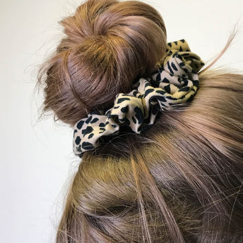 Leopard Print Scrunchie - Hair Accessories - Accessories