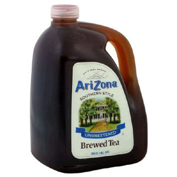 Arizona Southern Style Brewed Tea Unsweetened 128 Oz Pack of 4