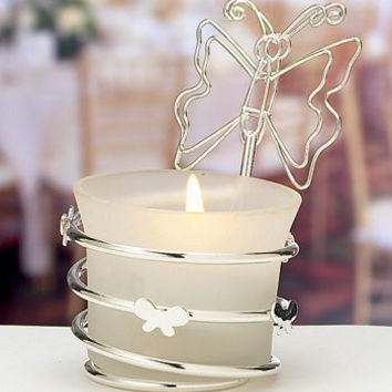 Fashioncraft Butterfly-Design Candleholders/Place Card Holders