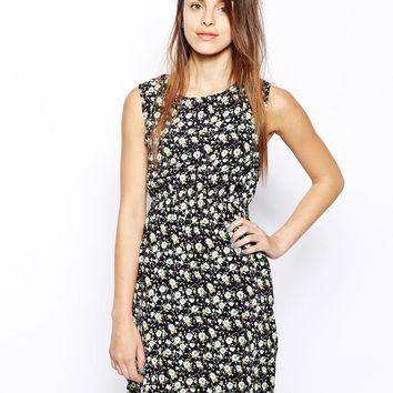 Iska Side Button Dress in Floral Print