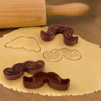 Munchstache Cookie Cutters - Makes 5 Styles of Mustache Cookies - Whimsical & Unique Gift Ideas for the Coolest Gift Givers