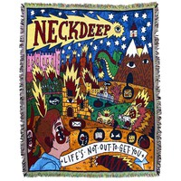 Life'S Not Out To Get You Throw Blanket : HLR0 : Neck Deep
