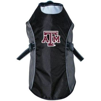 PEAPYW9 Texas A&M Aggies Water Resistant Reflective Pet Jacket