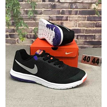 NIKE FLEX EXPERIENCE RN 6 Stylish Trending Men Leisure Sport Running Shoe Sneakers Black Purple I-CSXY