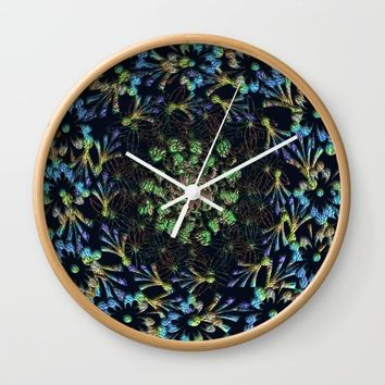Black Russian Pattern Wall Clock by Deluxephotos