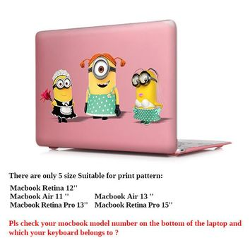 Minion Superheros!!  MONSTERS INC ALERT!!  Hard Plastic Laptop Case Cover for Macbook Pro 13 14 15