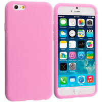 Light Pink Silicone Soft Skin Rubber Case Cover for Apple iPhone 6 Plus 6S Plus (5.5)