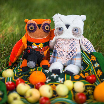 Nordic owl ,  soft  art toy  by   Wassupbrothers.