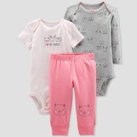 Baby Girls' 3pc Turn Me Around Owl Family Set - Just One You® made by carter's Pink