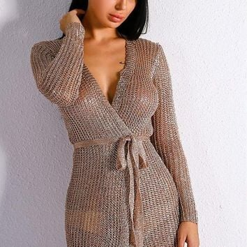 Satira Knitted Belted Cardigan