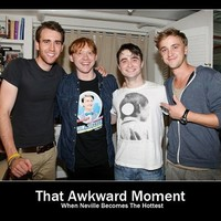 Made Me Laugh / I'm always rooting for the awkward guy, especially the awkward guy from Harry Potter.