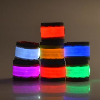 LED Warning Band Camping edc kit Night Survival tool Running Cycling Arm Leg Light Glowing Wristband Hiking Accessaries