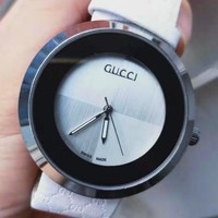 GUCCI tide brand personality wild men and women models quartz watch White