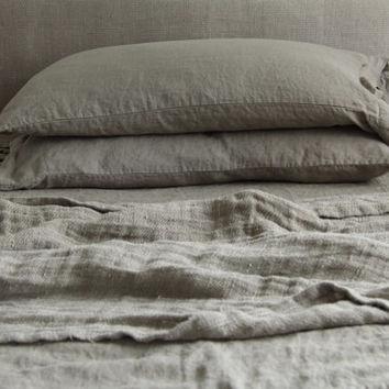 Linen  blanket, linen summer duvet, linen throw, hand made by mooshop