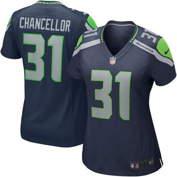 Women's Seattle Seahawks Kam Chancellor Nike College Navy Game Jersey