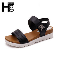 HEE GRAND Gladiator Women's Sandals Open Toe Academic Style Platform Shoes Hook Loop Height Increasing Wedge Shoes Woman XWZ3022