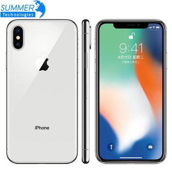 Original Unlock Apple iPhone X 64GB/256GB ROM 3GB RAM  12MP 5.8 Inch 2716mAh Hexa Core iOS 4G LTE Smart Unlock Mobile Phone