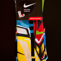 Thesockgame.com — LA Graffiti - Custom Nike Elite Socks