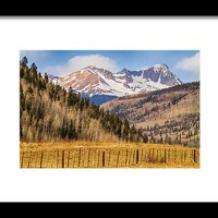 Through The Valley Up The Mountain Framed Print