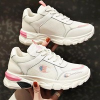 Champion Trending Women Breathable Sport Running Shoes Sneakers White&Pink