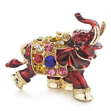 Colorful Crystal Elephant Key Chain