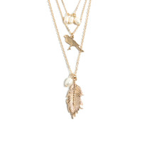 Feeling Light As A Feather Necklace Set