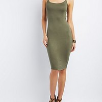 STRAPPY OPEN-BACK BODYCON DRESS