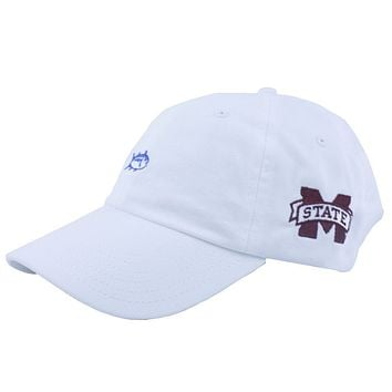 Mississippi State Collegiate Skipjack Hat in White by Southern Tide